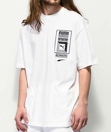 PUMA Logo Tower camiseta blanca