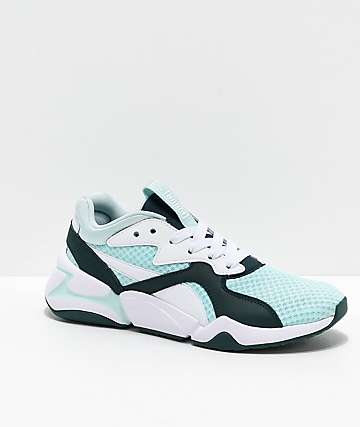 PUMA Nova 90s Bloc Aqua & Green Shoes
