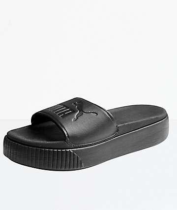 PUMA Platform Bold Black Slide Sandals
