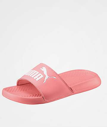 PUMA Popcat Fluo Peach Slide Sandals