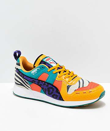 PUMA RS-100 Zinnia, White & Purple Shoes