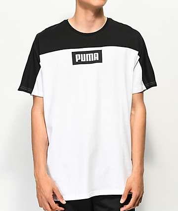 PUMA Rebel Block Black & White T-Shirt