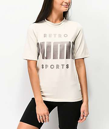 PUMA Retro camiseta beige