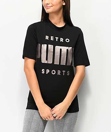 PUMA Retro camiseta negra
