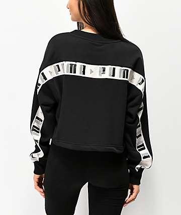 PUMA Revolt Black Crewneck Sweatshirt