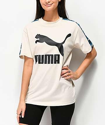 PUMA Revolt Taped camiseta beige