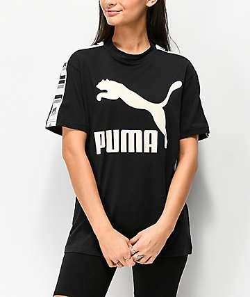 PUMA Revolt Taped camiseta negra