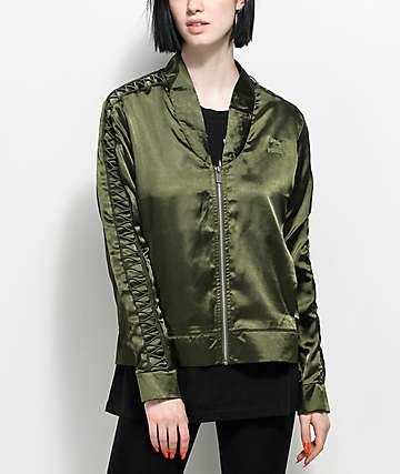 PUMA Satin Lux T7 Olive Jacket