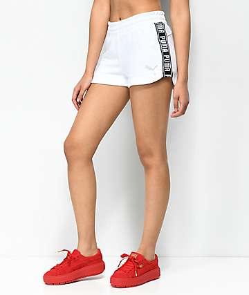 PUMA Spark shorts blancos