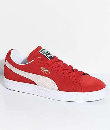 PUMA Suede Classic+ zapatos en rojo y blanco