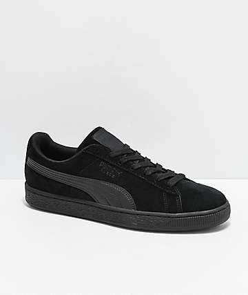 PUMA Suede Classic+ All Black Shoes