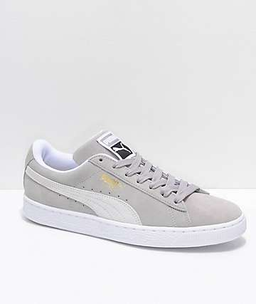 PUMA Suede Classic+ Ash & White Shoes