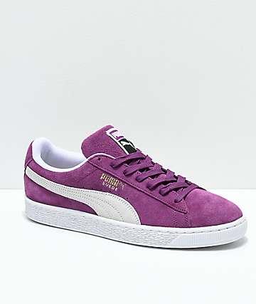 PUMA Suede Classic+ Grape zapatos morados y blancos