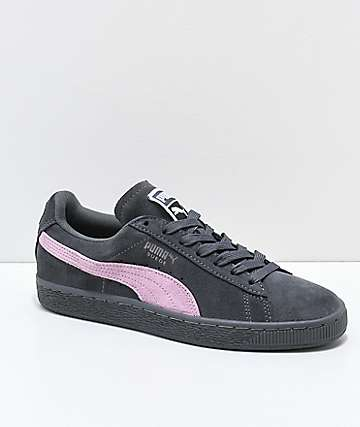 PUMA Suede Classic+ Iron Gate & Orchid Pink Shoes
