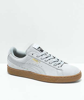PUMA Suede Classic+ Quarry   Gum Shoes 2f5906a21