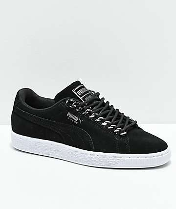 PUMA Suede Classic Chains Black & White Shoes