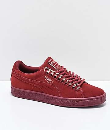 PUMA Suede Classic Pomegranate Chain zapatos rojos
