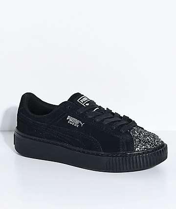 PUMA Suede Platform Crushed Gem & Black Shoes