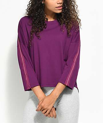PUMA Tape Dark Purple Top