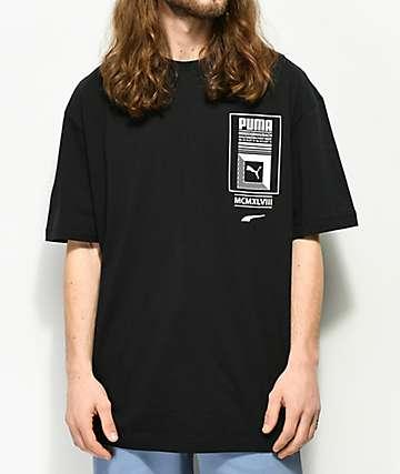 PUMA Tower Logo camiseta negra