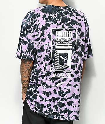 PUMA Tower Logo camiseta tie dye morada
