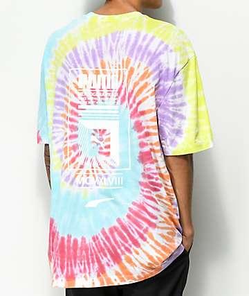 PUMA Tower Logo camiseta tie dye multicolor