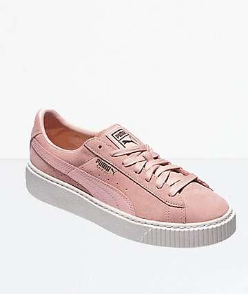 PUMA Trace Pink Suede Platform Shoes