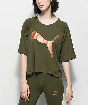 PUMA Transition Olive & Metallic T-Shirt