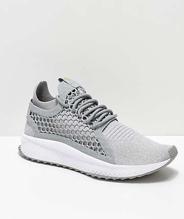 PUMA Tsugi Netfit V2 Evoknit Grey & White Shoes