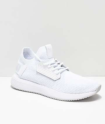 PUMA Uprise Knit Nimbus Cloud zapatos blancos