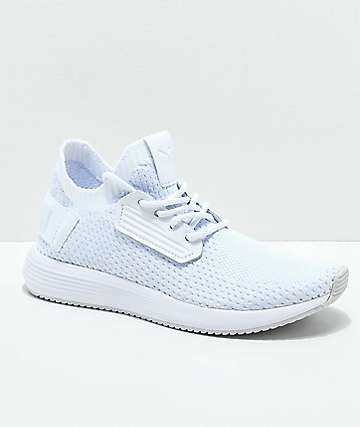 PUMA Uprise Knit White & Grey Shoes