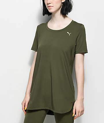 PUMA Velvet Rope Green Tunic