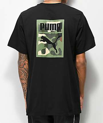 PUMA Wild Pack Black & Camo T-Shirt