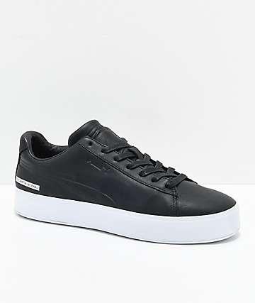 PUMA x Black Scale Court Platform zapatos en negro y blanco