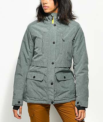 PWDR ROOM Spirit Mineral Green 7K Snowboard Jacket