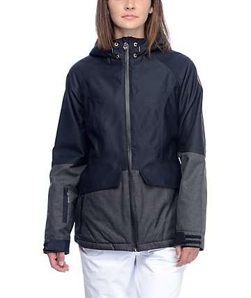 PWDR Room Bethany Caviar chaqueta de snowboard con suave exterior