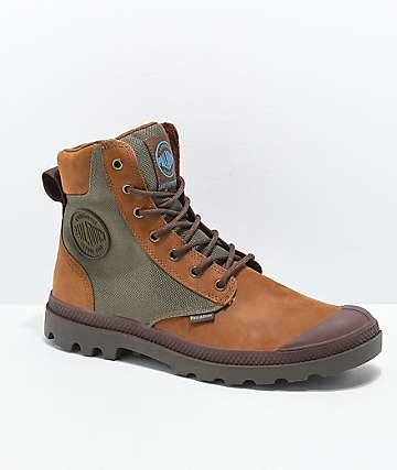 Palladium Pampa Sport Cuff WPN Brown & Moon Grey Boots
