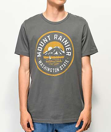 Parks Project Mt. Rainier Lakes Charcoal T-Shirt