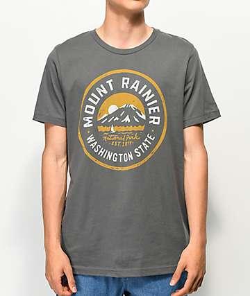 Parks Project Mt. Rainier Lakes Charcoal T-Shirt