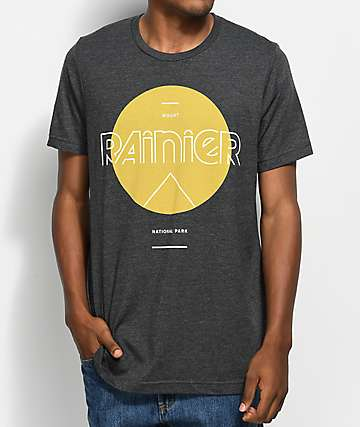 Parks Project WA Rainier Mod Sun Charcoal T-Shirt