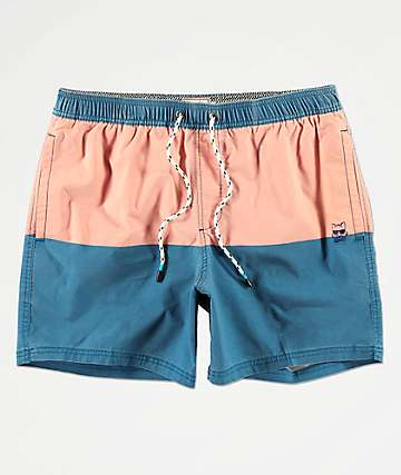 Party Pants Corsair Blue & Red Board Shorts
