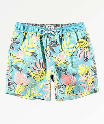Party Pants Cut Up Blue Board Shorts