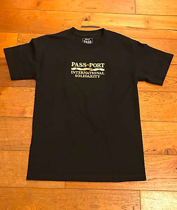 Passport Inter Solid Black T-Shirt