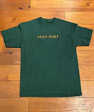 Passport Solid Bar Forest Green T-Shirt