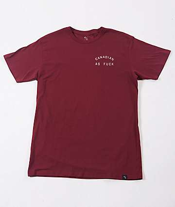 Peace Collective Canadian As F Burgundy T-Shirt