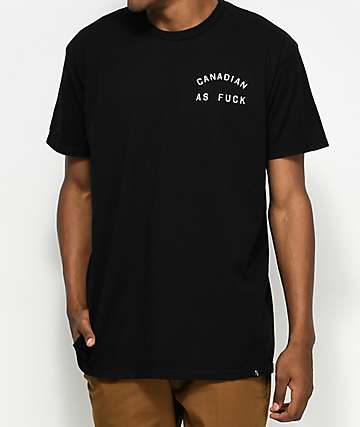 Peace Collective Canadian As Fuck Black T-Shirt