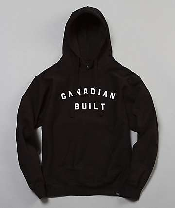 Peace Collective Canadian Built Black Hoodie