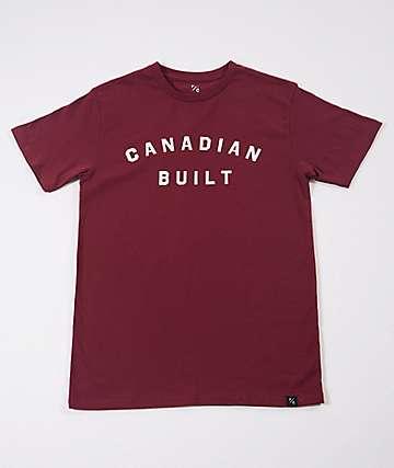 Peace Collective Canadian Built Burgundy T-Shirt