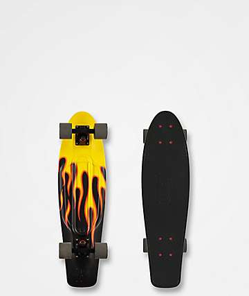 "Penny Nickel Flames 27"" Cruiser Complete Skateboard"