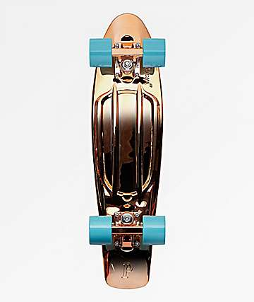 "Penny Rose Gold Metallic 22"" Cruiser Complete Skateboard"